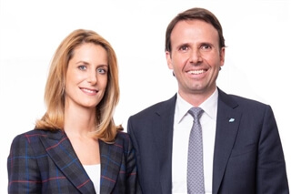 Evelyn Kirchmaier, General Manager of Markas, with husband and CEO of the Markas Group, Christoph Kasslatter