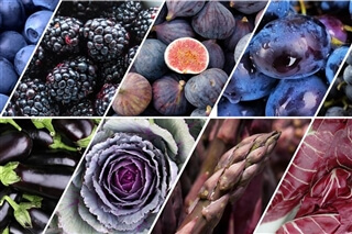 blue violet fruit and vegetables